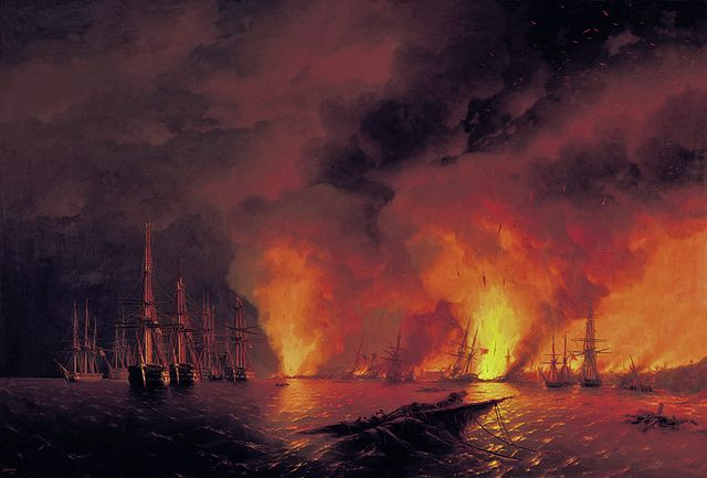 Battle of Sinope - Ivan Aivazovsky
