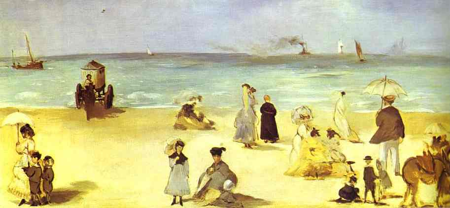 Beach at Boulogne-sur-Mer - Edouard Manet