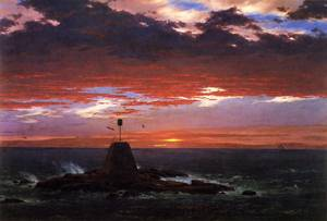 Beacon off Mount Desert Island - Frederic Edwin Church