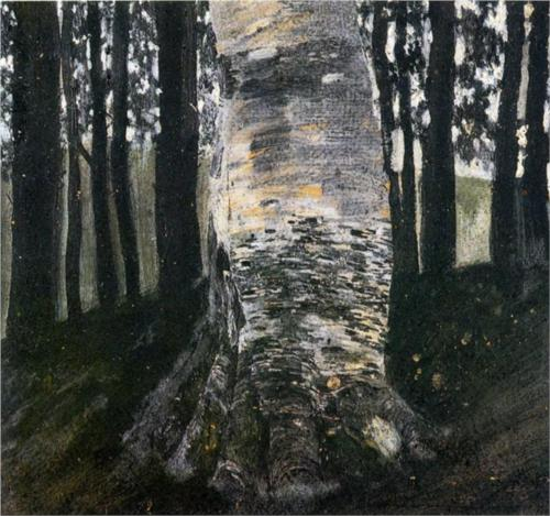 Birch in a Forest - Gustav Klimt