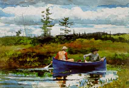 The Blue Boat - Winslow Homer