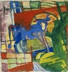 Blue Cow - Franz Marc