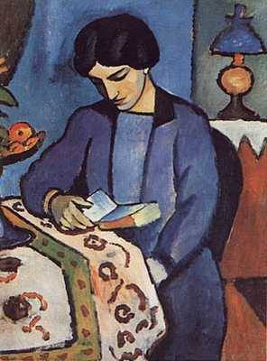 Blue Girl Reading - August Macke