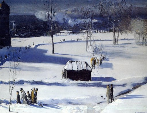 Blue Snow, the Battery (Park) - George Bellows