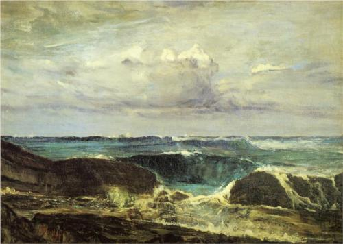 The Blue Wave at Biarritz - James McNeill Whistler