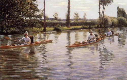 Boating on the Yerres - Gustave Caillebotte