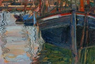 Boats Mirrored in the Water - Egon Schiele
