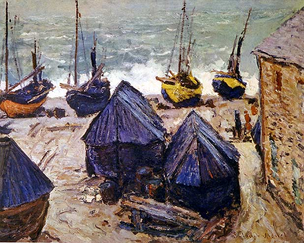 Boats in Winter Quarters - Claude Monet