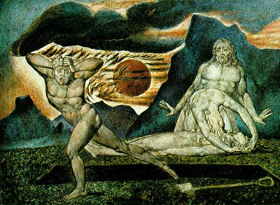 Body of Abel Found by Adam & Eve - William Blake
