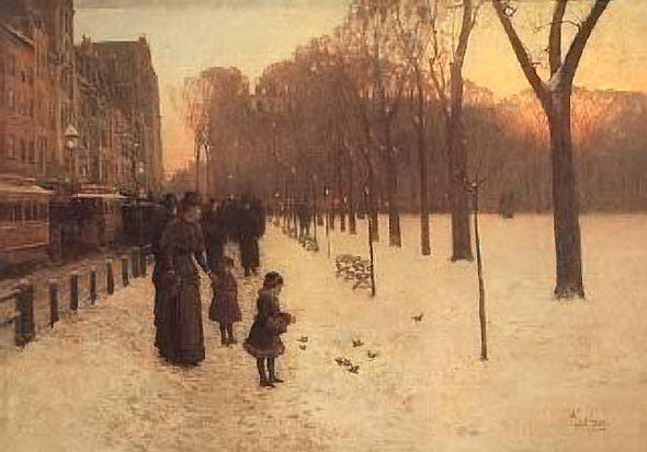 Boston Common at Twilight - Childe Hassam