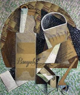 Bottle of Banyuls - Juan Gris