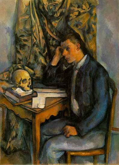 Boy with Skull - Paul Cezanne