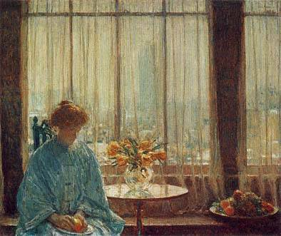 Breakfast Room, Winter Morning - Childe Hassam