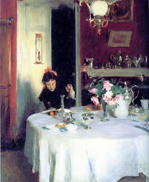 Breakfast Table - John Singer Sargent