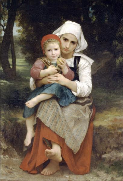 Breton Brother and Sister - William Bouguereau