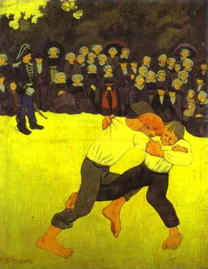 Breton Wrestling - Paul Serusier