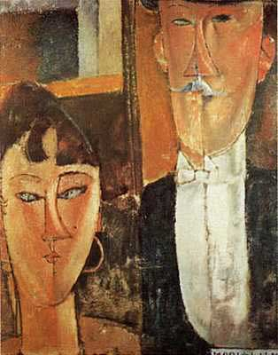 Bride and Groom - Amedeo Modigliani