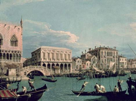 Bridge of Sighs, Venice (La Riva degli Schiavoni) - Canaletto