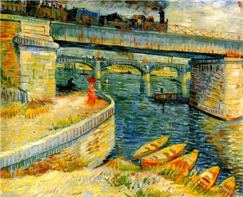 Bridges across the Seine at Asnieres - Vincent Van Gogh
