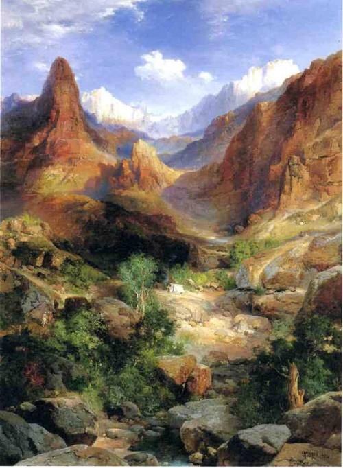 Bright Angel Trail - Thomas Moran