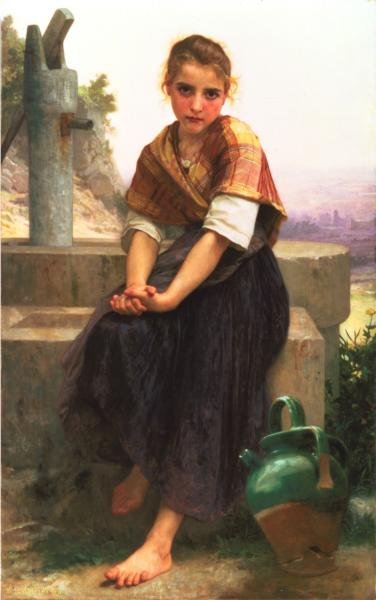 Broken Pitcher - William Adolphe Bouguereau