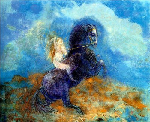 Brunhild (The Valkyrie) - Odilon Redon