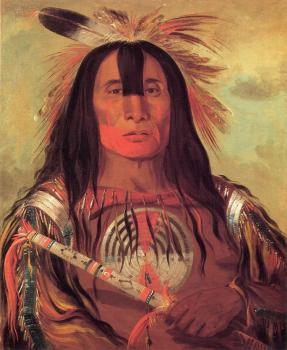 Buffalo Bull's Back Fat, Head Chief, Blood Tribe - George Catlin