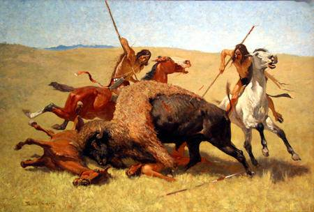 Buffalo Hunt - Frederic Remington