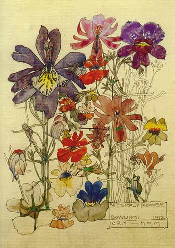Butterfly Flower Bowling - Charles Mackintosh