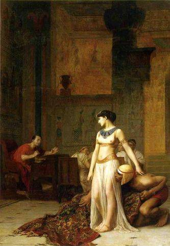 Caesar and Cleopatra - Jean Leon Gerome