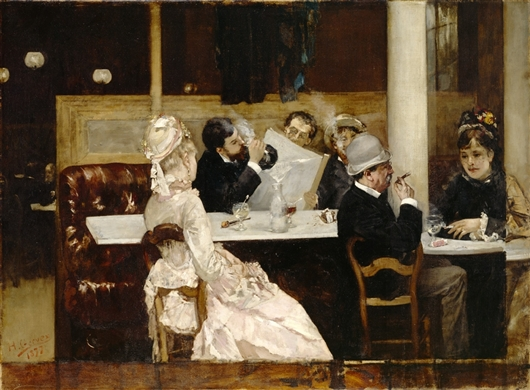 Cafe Scene in Paris - Henri Gervex