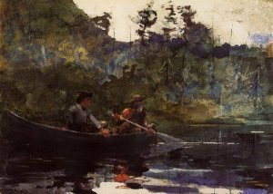 Canoeing in the Adirondacks - Winslow Homer