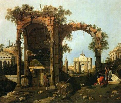 Capriccio Ruins and Classic Buildings - Canaletto