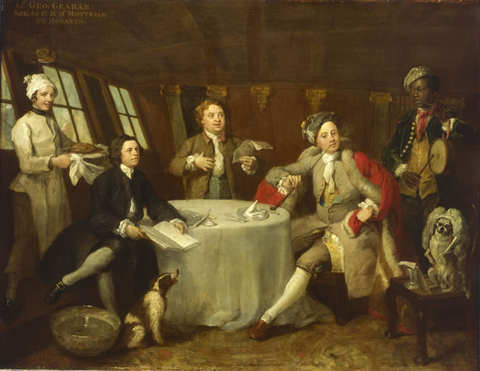 Captain Lord George Graham - William Hogarth
