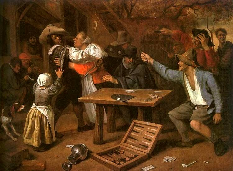 Card Players Quarreling - Jan Steen
