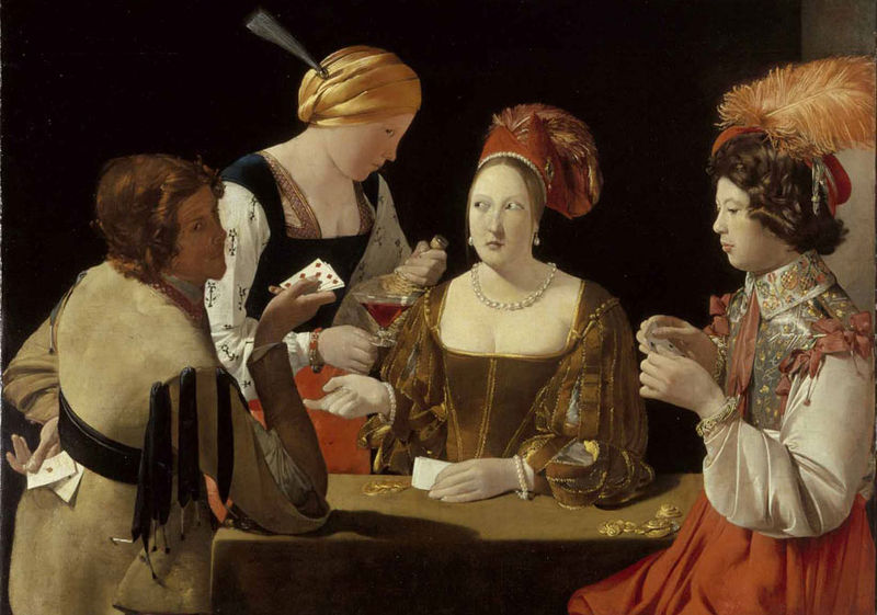 Card Sharp with the Ace of Clubs - Georges de La Tour