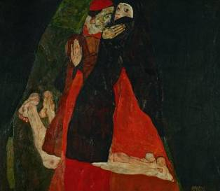 Cardinal and Nun - Egon Schiele