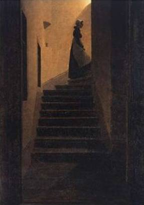 Caroline on the Stairs - Caspar David Friedrich