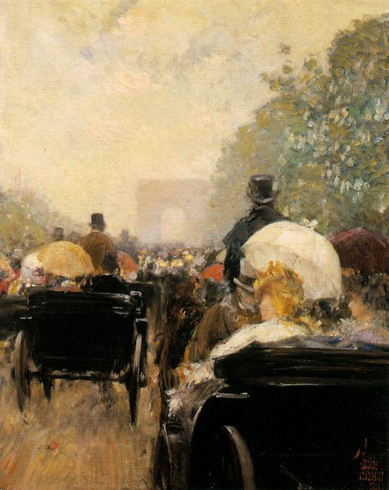 Carriage Parade - Childe Hassam