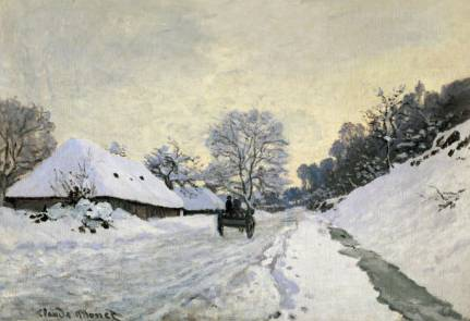 Cart on the Road to Honfluer - Claude Monet