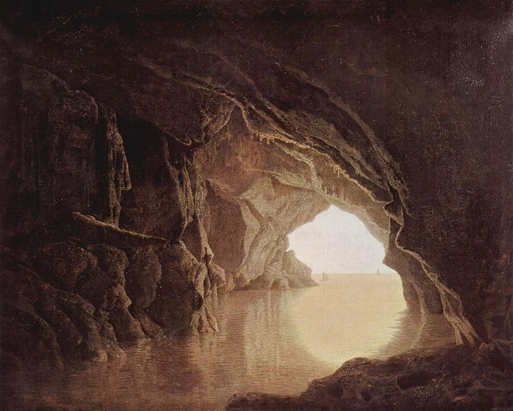 Cave at Evening - Joseph Wright of Derby
