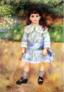 Child with a Whip - Pierre Auguste Renoir