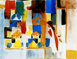 Children At the Grocery Store - August Macke