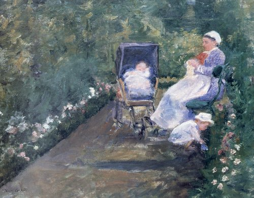 Children in the Garden - Mary Cassatt
