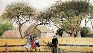 Children on a Fence - Winslow Homer