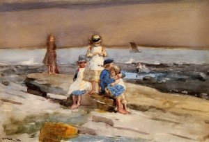 Children on the Beach - Winslow Homer