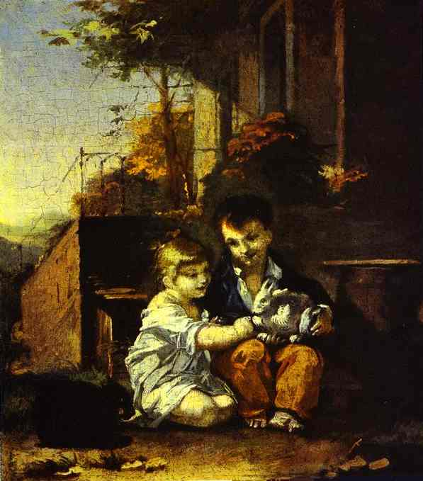Children with Rabbit - Pierre Paul Prudhon