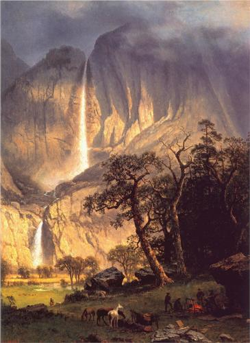 Cho-looke, the Yosemite Fall - Albert Bierstadt