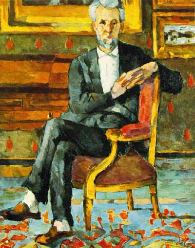 Chocquet Seated - Paul Cezanne