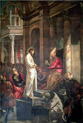 Christ Before Pilate - Jacopo Robusti Comin Tintoretto